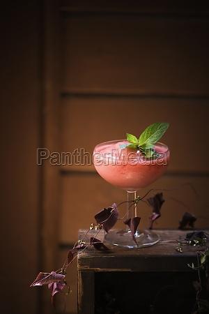 a frozen cocktail of watermelon raspberries