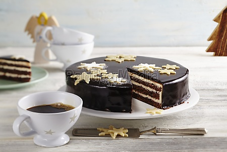 a christmas star cake with butter