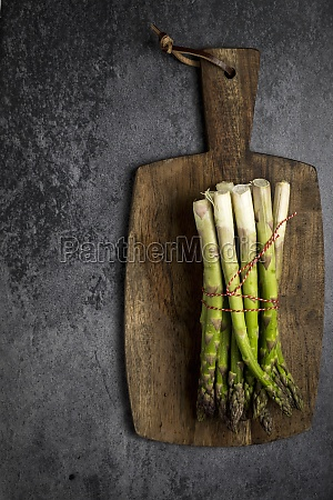 asparagus with a little red rope