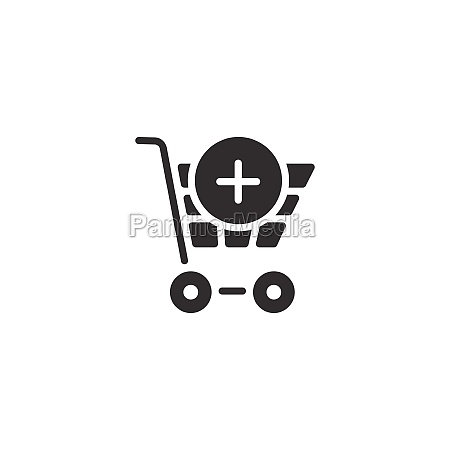shopping cart add product isolated icon