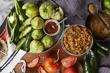 mexican rice and vegetable dish with