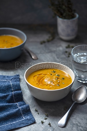 roasted butternut squash soup with chili