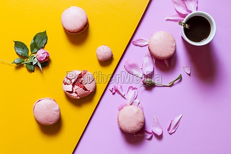 pink macaroons filled with raspberry buttercream