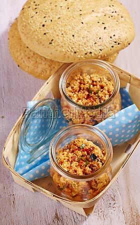 a mediterranean feta cheese spread in