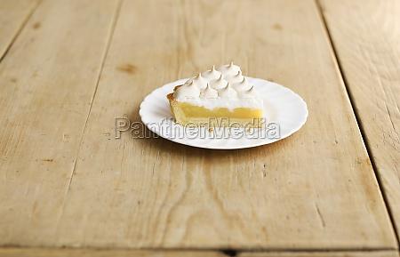 a piece of lemon meringue pie