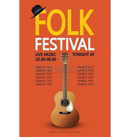 folk festival poster