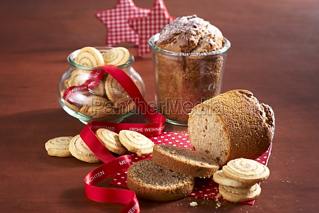 cinnamon spiral biscuits and cake baked