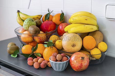 collection of different fresh tasty ripe