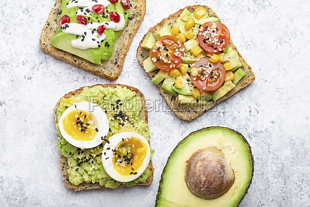 clean eating avocado toasts with