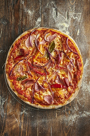 pizza jazz with bell pepper and