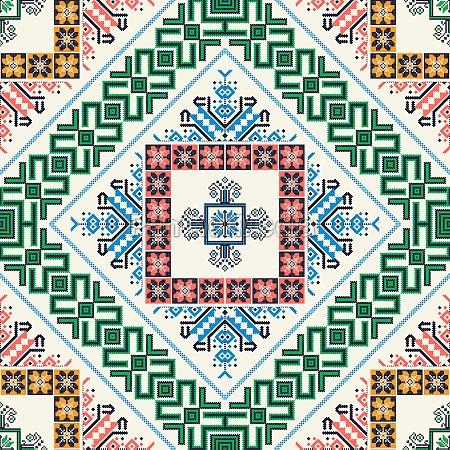 romanian traditional pattern 9
