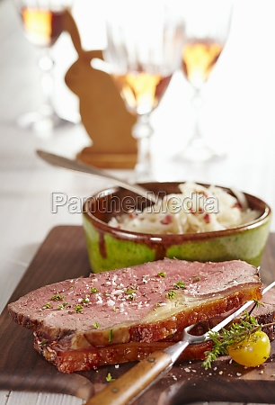 oven roasted beef with spanish coleslaw