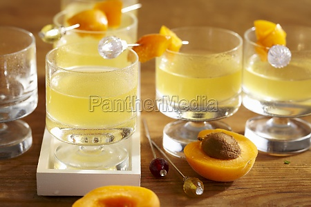apricot and orange liqueur with fresh