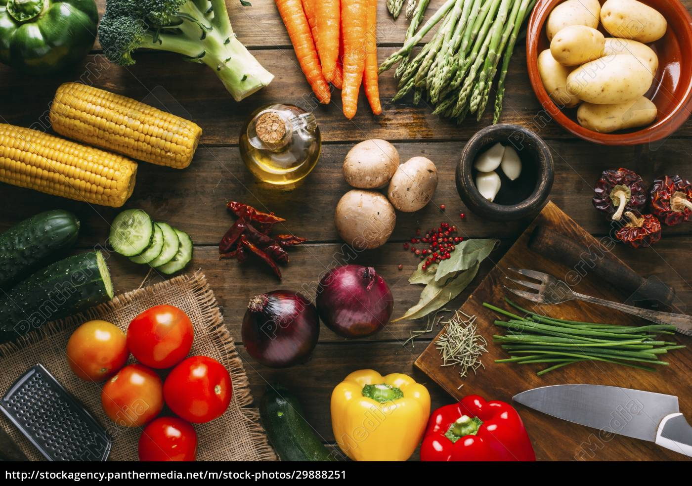 vegetable, still, life, with, corn, cobs, - 29888251