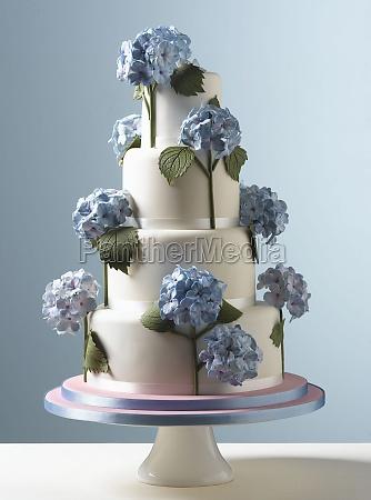 easter celebrations tiered white wedding cake