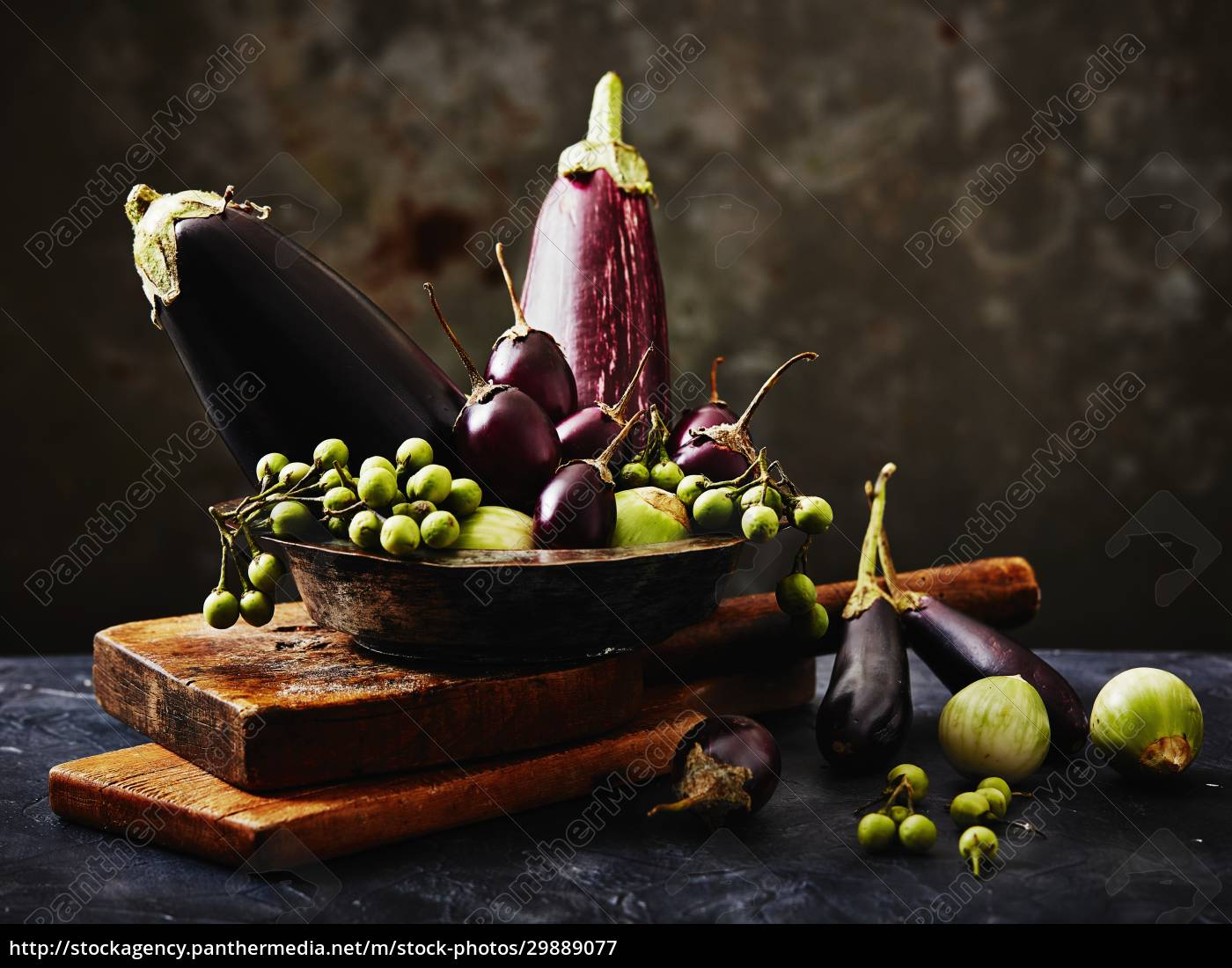 still-life, arrangement, of, aubergines - 29889077