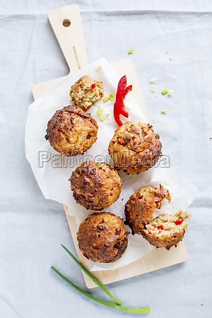 spicy vegetable muffins with peppers and
