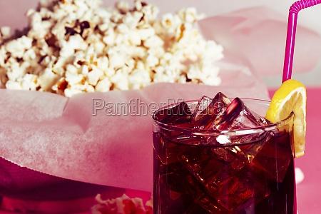 pile of fresh tasty popcorn in