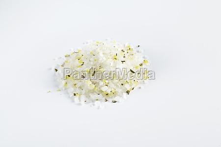 spice mixture with lemon zest sea