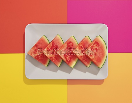 summer juicy fruit watermelon in colorful