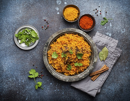 pilaf traditional eastern and asian