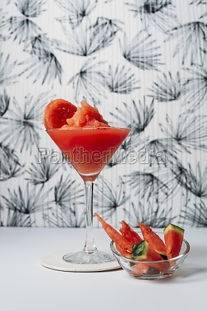 fresh watermelon daiquiri refreshing cocktail in