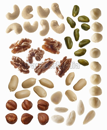 a mixture of nuts