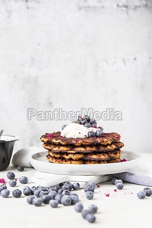 a stack of pumpkin waffle with