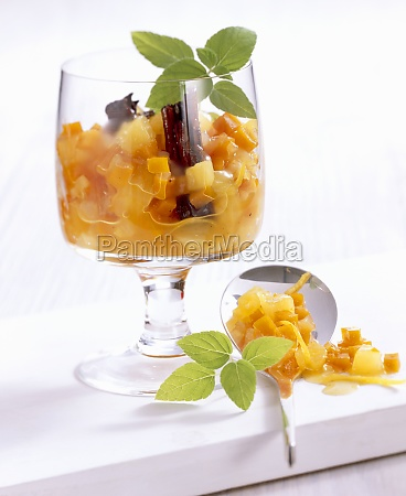 pumpkin and pineapple chutney with spices