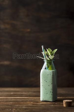 smoothie with kiwi banana lemon juice
