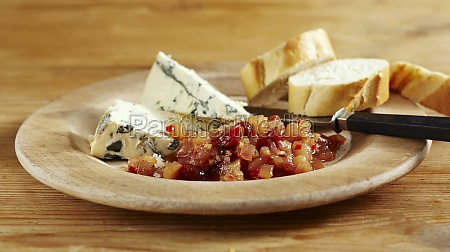 sweet pear chutney with chili served