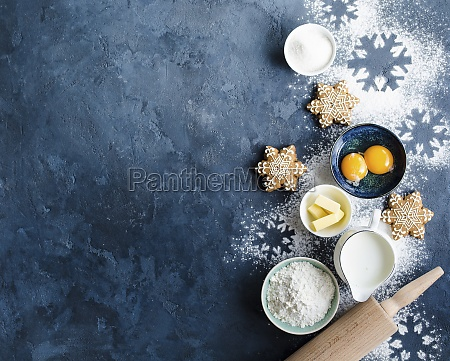 christmas or new year food background