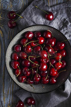 sweet cherry in a bowl on