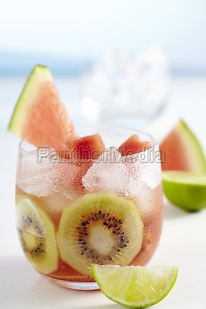 lime iced tea with watermelon and