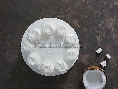 latin american food coconut cake torta