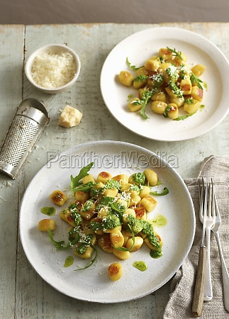 gnocchi with pesto and parmesan