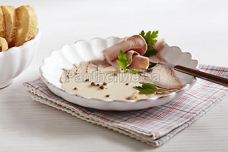 vitello tonnato of veal with tuna