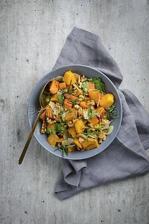 pumpkin salad with walnuts and parmesan