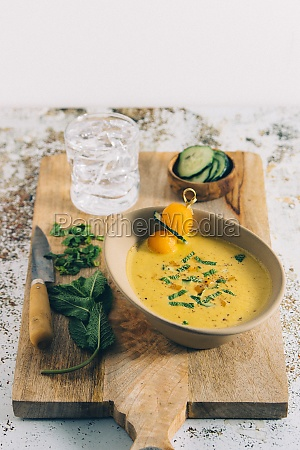 water melon and cucumber soup