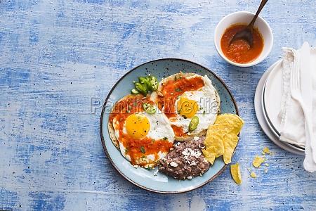 huevos rancheros breakfast dish mexico