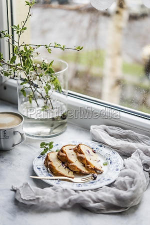 time for coffee and blueberry spring