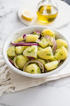 potato and red onion salad