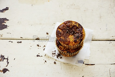 homemade pumpkin chocolate muffins
