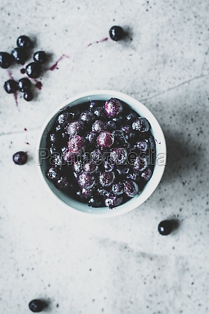 a bowl of wild blueberries