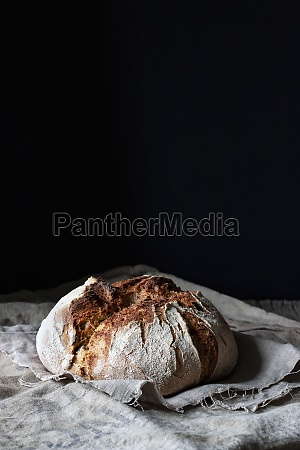 loaf of fresh country sourdough bread