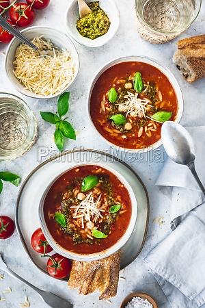 mediterranean tomato soup with risoni and