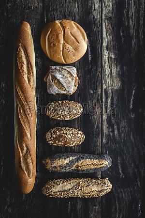 gold assortment bread homemade