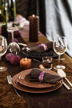 elegant place setting for dinner