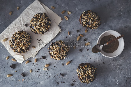 vegan doughnuts with a caramel filling