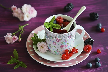 red groats in a cup with